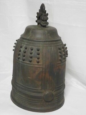 JAPANESE TEMPLE BELL BRONZE BUDDHIST 23kg