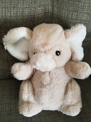 Vintage 1979 Daekor Beige Elephant Stuffed Plush Animal Toy