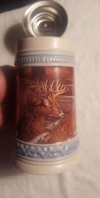 Whitetails Unlimited Pewter Lid Stein ~ Buck - decorated and lidded Germany