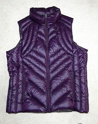 WOMENS SIZE LARGE PACKABLE DOWN PUFFER VEST by A.N.A. PURPLE  XLNT LN CONDITION