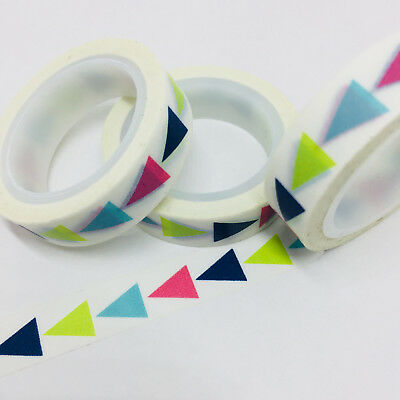 Washi Tape Thin Skinny 4 Colour Triangles 10Mm Wide X 5Mt Roll Plan Craft Wrap