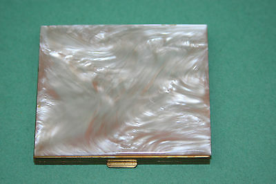Vintage Mother of Pearl Compact Case