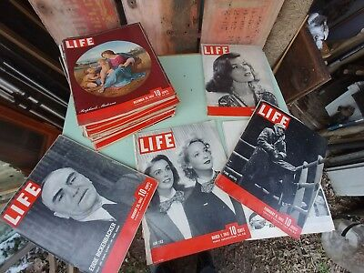 Vintage Life Magazines lot of 8 you choose 1940s great ads