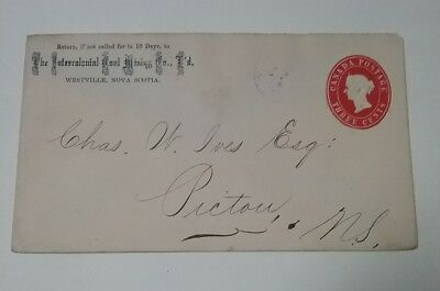 kerryyw Canada Queen Victoria Stnry.to Picton N.S.,back stamps. lot #27
