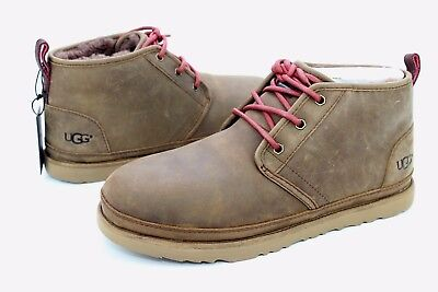 3b457f5c2 UGG For Men Boots Neumel Waterproof Leather / Wool Grizzly Brown US Size 9