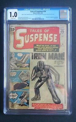 Tales Of Suspense #39 • 1St Iron Man/tony Stark • Cgc 1.0 • Avenger Infinity War