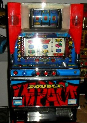 Pachislo Double Impact 6 Reel Slot Machine / 200 Tokens / 285 Pg Manual
