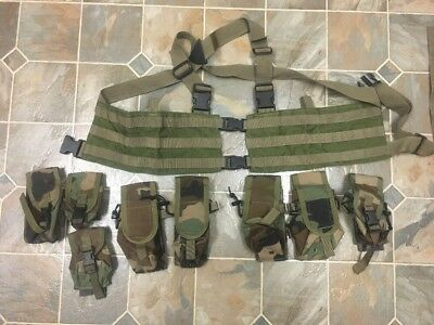 Tactical Tailor MAV OD Woodland Chest Rig Pouches M4 Grenade Smoke .308