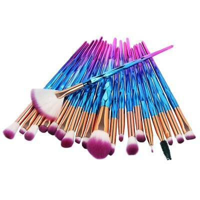 20PCS Diamond Unicorn Eyeshadow Eyebrow Blending Brush Set Eye Makeup Brushes