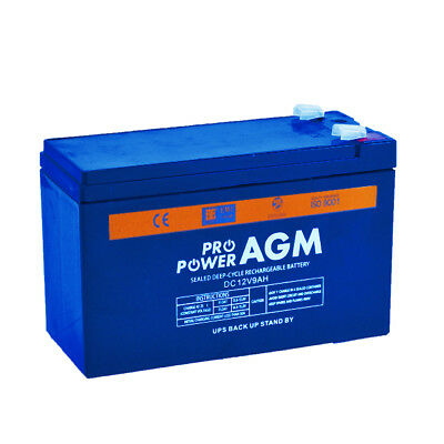 12v 9ah AGM SEALED DEEP-CYCLE LEAD ACID SLA BATTERY ALARM UPS TORCH SPOTLIGHT