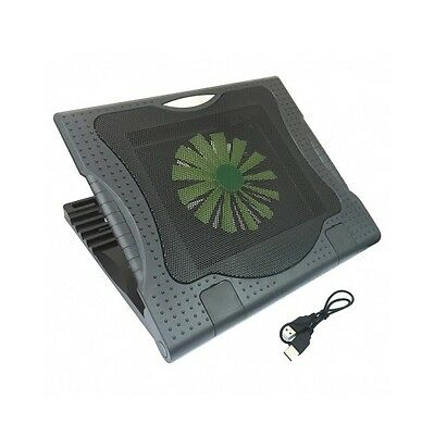 """Silent 160mm Fan Cooling Stand Pad USB Port Cooler Fits 10""""-17"""" Laptop Notebook"""