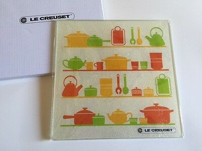New Le Creuset Glass Kitchen Plate, Cutting Board, Or Dish (Not Sold in Stores)