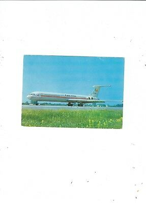 Official Postcard  Tarom   Romanian Air Transport Ill -62