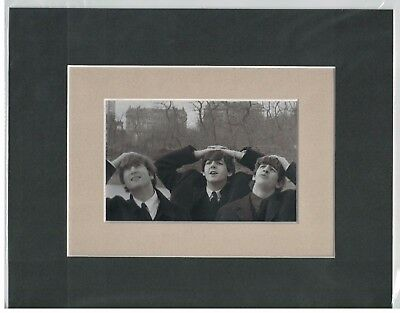 The Beatles in Central Park 8 x 10 Double-Matted Photo Display