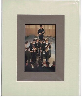 The Beatles on Ed Sullivan #2 8 x 10 Double-Matted Photo Display