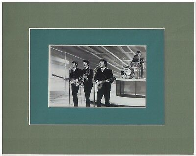 The Beatles on Ed Sullivan 8 x 10 Double-Matted Photo Display