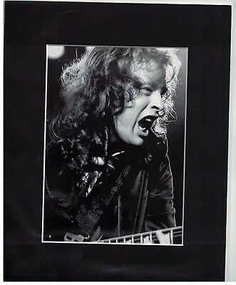 AC DC Angus Young 8 x 10 Matted Photo Display
