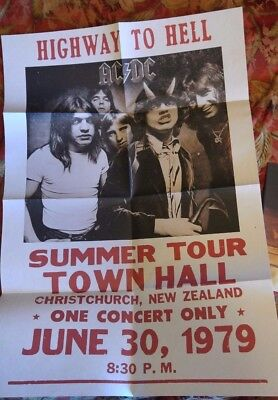 "AC DC ""Highway to Hell"" T our 1979 Poster Bon Scott"