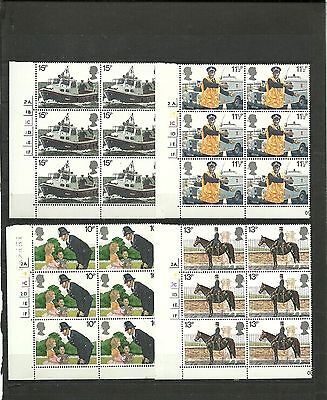 Great Britain 1979 Police  CYL Block MNH