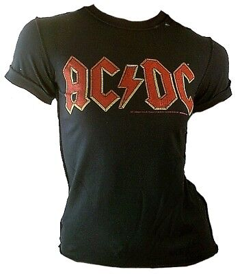 AMPLIFIED Off AC//DC ACDC Fly in the Wall Tour 85 Logo Star Vintage T-Shirt g.XS