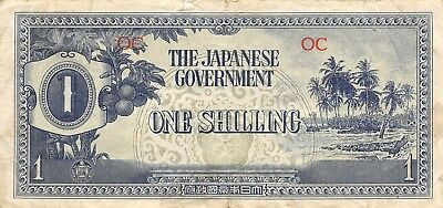 Oceania  1/-   ND. 1944  block OC WWII Issue  Circulated Banknote JJ20