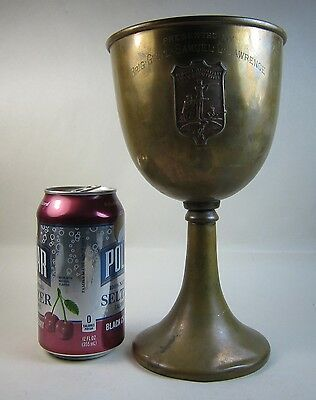 Antique c1900 Samuel C. Lawrence New England Military Rifle Assoc Lrg Trophy Cup