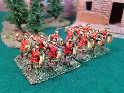 25mm Ancient Greek Hvy Hoplites, Long Spear and Shield Infantry, painted, based