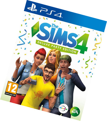 The Sims 4 Deluxe Party Edition (PS4) BRAND NEW SEALED UK OFFICIAL