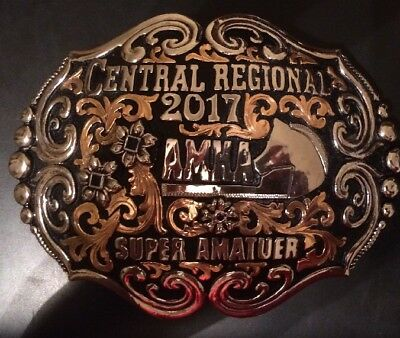 Trophy Rodeo Champion Belt Buckle Horse Rider Riding