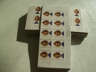 US Postage 100 (10 sheets x 10) Purple Heart FOREVER Stamps FV - $50.00