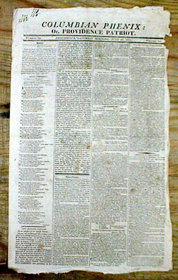 1813 War of 1812 newspaper FORT GEORGE New York & FORT ERIE Ontario CANADA