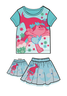 Sealed NWT Trolls Bright Pink A-Line Short-Sleeved Poppy Dress Ages 3-8 yrs
