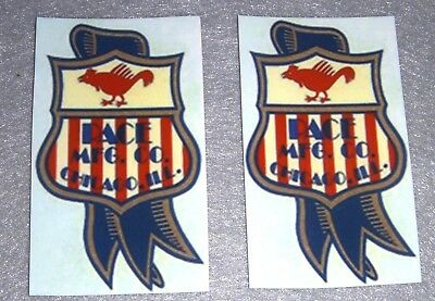 Pace old style slot machine logo decals for restoration of antique slot machine