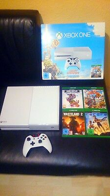 Microsoft Xbox One Special Edition Sunset Overdrive 500GB Weiß Spielekonsole