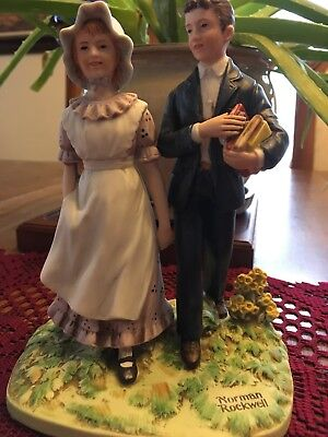"""Norman Rockwell """"Vacation"""" Collectible Figurine 1982"""