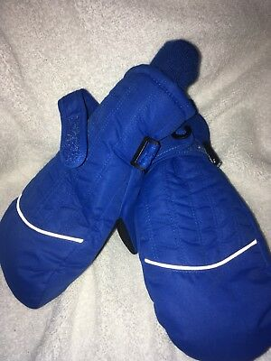 Bits Thinsulate Ski Mittens, NWT, waterproof Blue With Black Palms