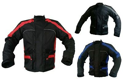 New Waterproof Motorbike Motorcycle Men Jacket Cordura Textile Black-Free Post