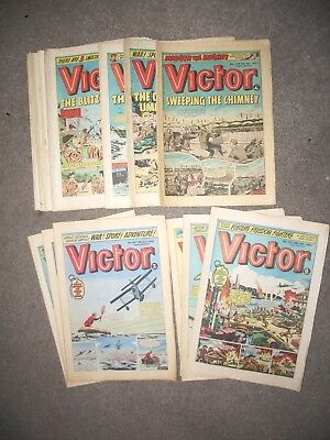 27 Victor comics from 1975, 1979, 1980 and 1983.