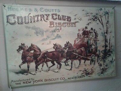 Holmes & Coutts Country Club Biscuit Metal Sign