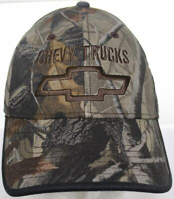 7aa6a29ac9559 Vintage Chevy Trucks Drew Pearson Racing Hat Realtree Camouflage Strapback  Cap