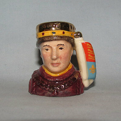 Royal Doulton Henry V Kings and Queens of Realm tiny size character jug D6994
