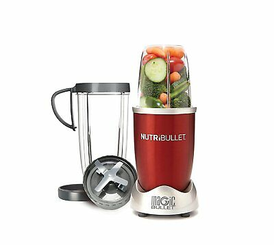 NutriBullet 8-Piece Magic Bullet Superfood Nutrition Extractor, Red 600 Wt Motor