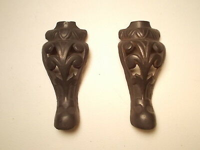 Antique Small cast Iron Pair of Stove Legs , Clean