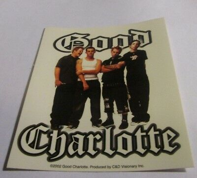Good Charlotte Sticker New 2002 Vintage Oop Rare Collectible