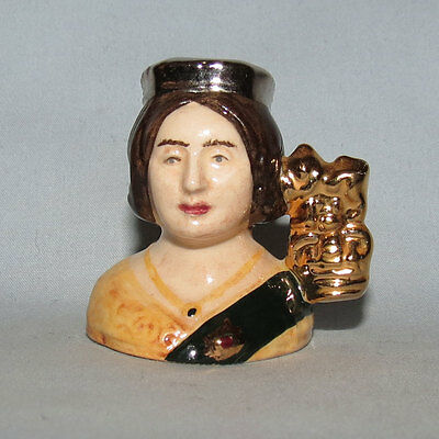 Royal Doulton Victoria Kings and Queens of Realm tiny size character jug D6991
