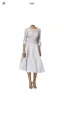 Jessica Howard Mother Of The Bride Dress Size 16 EUC Silver /Gray