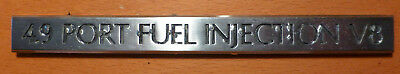 GM Cadillac Caddy Seville Eldorado DeVille Emblem Kofferraum Sticker 4.9 V8 USA