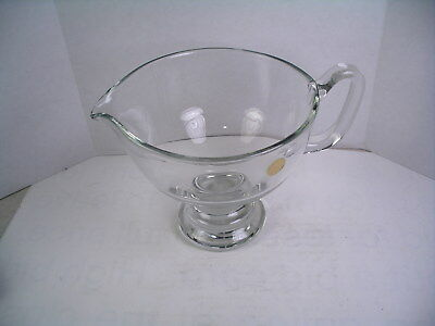 Handcrafted Hand Made Crystal Glass Footed Pitcher Made In Romania