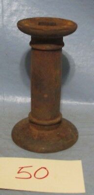 Vintage and Antique Cast Iron Spool, Rusty Iron Disc Spacer, Farm Plow Machinery