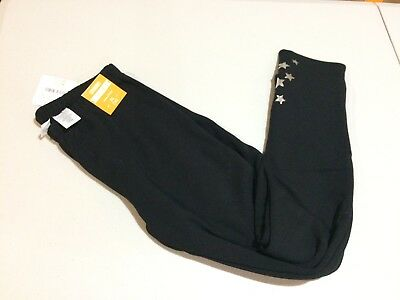 NWT Gymboree Warm and Fuzzy Black with star Leggings Winter Star